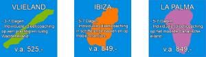 Coaching op Vlieland, Ibiza en La Palma